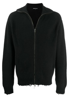 Ann Demeulemeester long sleeve distressed sweater