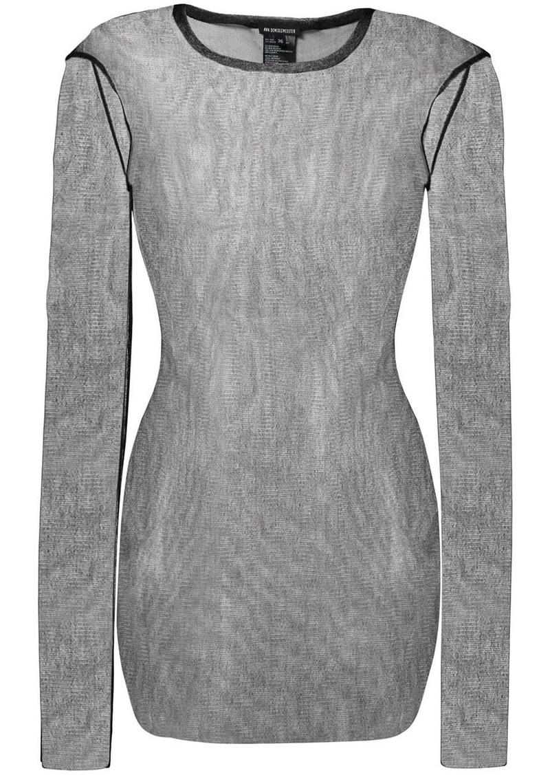 Ann Demeulemeester long sleeve sheer top