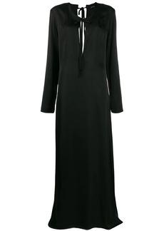 Ann Demeulemeester long sleeve tie neck dress