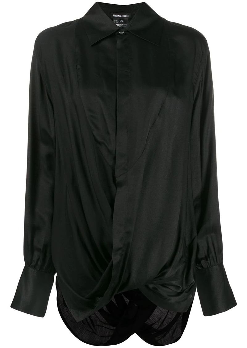 Ann Demeulemeester long sleeved draped blouse