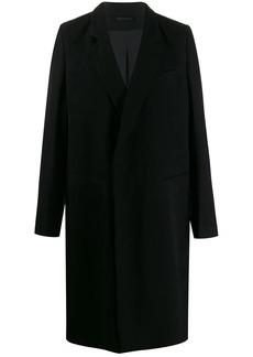 Ann Demeulemeester longline single-breasted coat