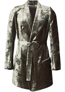 Ann Demeulemeester Lucinda velvet-effect jacket