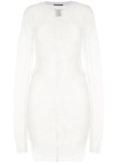 Ann Demeulemeester mesh asymmetric blouse