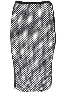 Ann Demeulemeester Mesh Net Jersey Midi Skirt