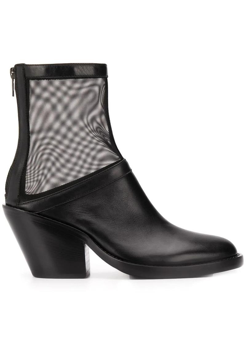 Ann Demeulemeester mesh panel boots