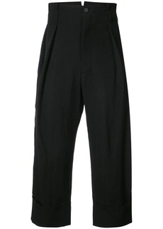 Ann Demeulemeester mustang cropped trousers