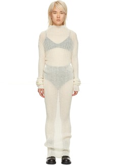 Ann Demeulemeester Off-White Mohair Ashgate Turtleneck Dress