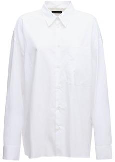Ann Demeulemeester Over Asymmetric Cotton Poplin Shirt