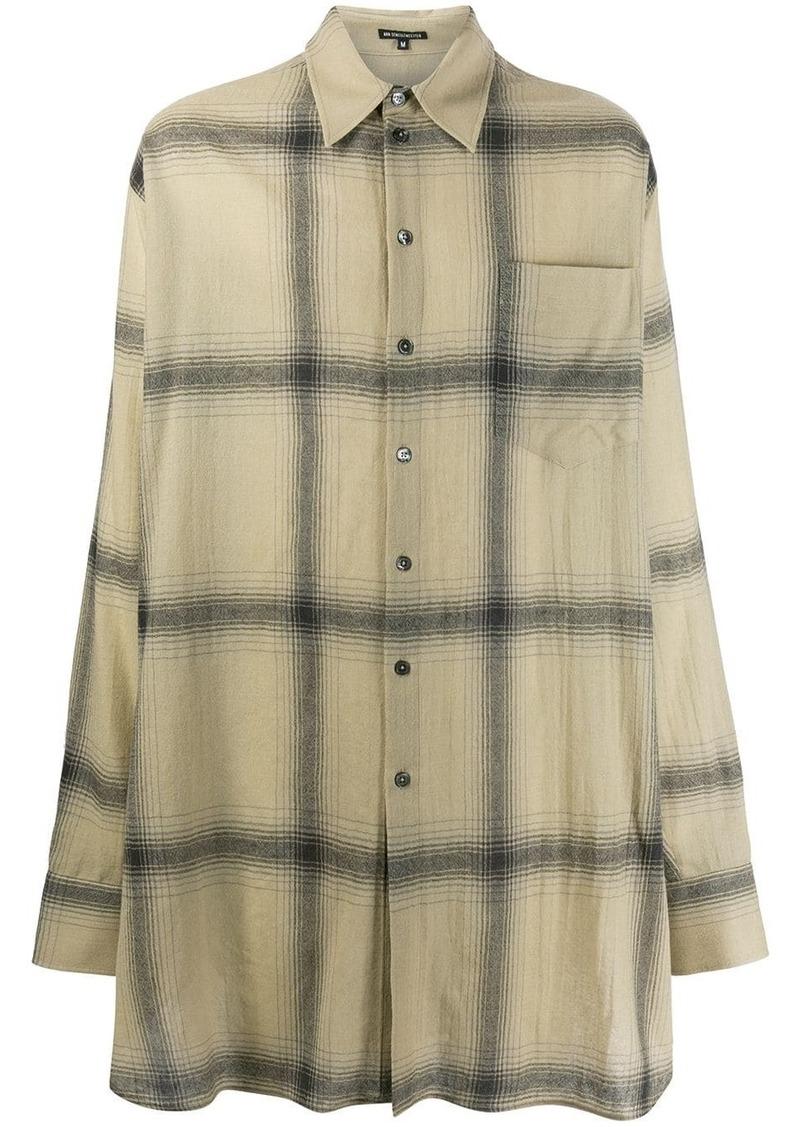 Ann Demeulemeester oversized check-patterned shirt