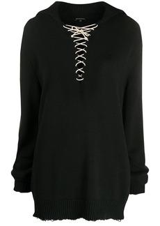 Ann Demeulemeester oversized lace-up jumper