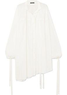 Ann Demeulemeester Oversized Tie-detailed Cotton Shirt