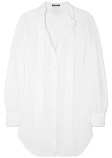 Ann Demeulemeester Oversized Tie-neck Cotton Shirt