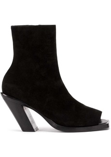 Ann Demeulemeester peep-toe ankle boots