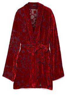 Ann Demeulemeester Peignoir Devoré-chiffon Wrap Dress