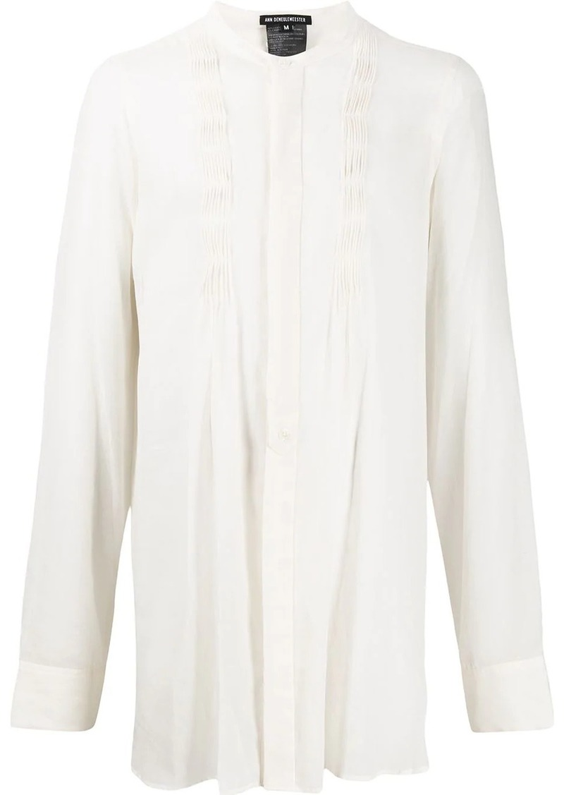 Ann Demeulemeester pleated long-sleeve shirt