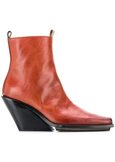 Ann Demeulemeester pointed toe ankle boots