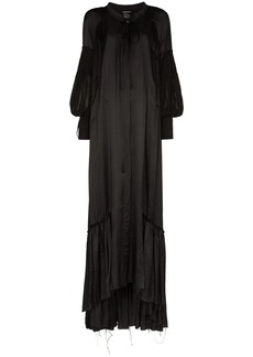 Ann Demeulemeester pouf-sleeve maxi dress