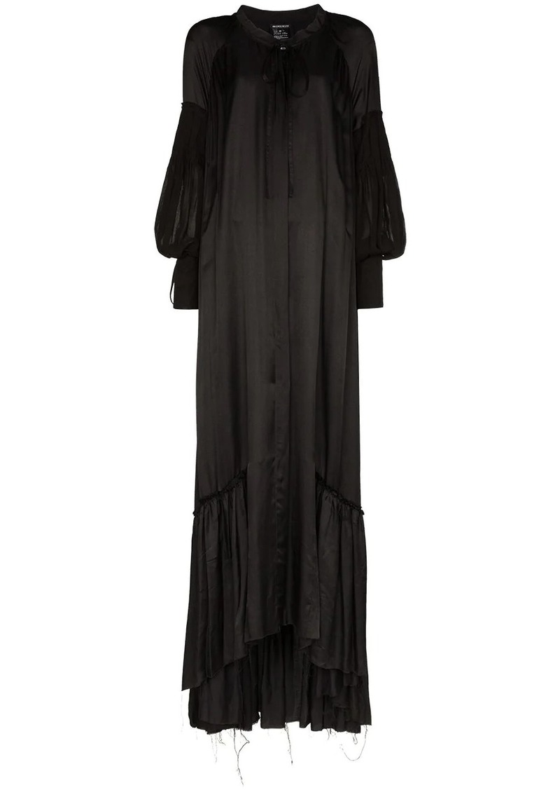 Ann Demeulemeester pouf-sleeve maxi dress