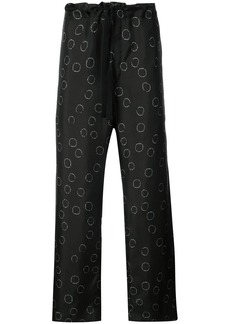 Ann Demeulemeester printed wide leg trousers