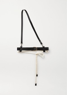 Ann Demeulemeester Rope And Leather Belt