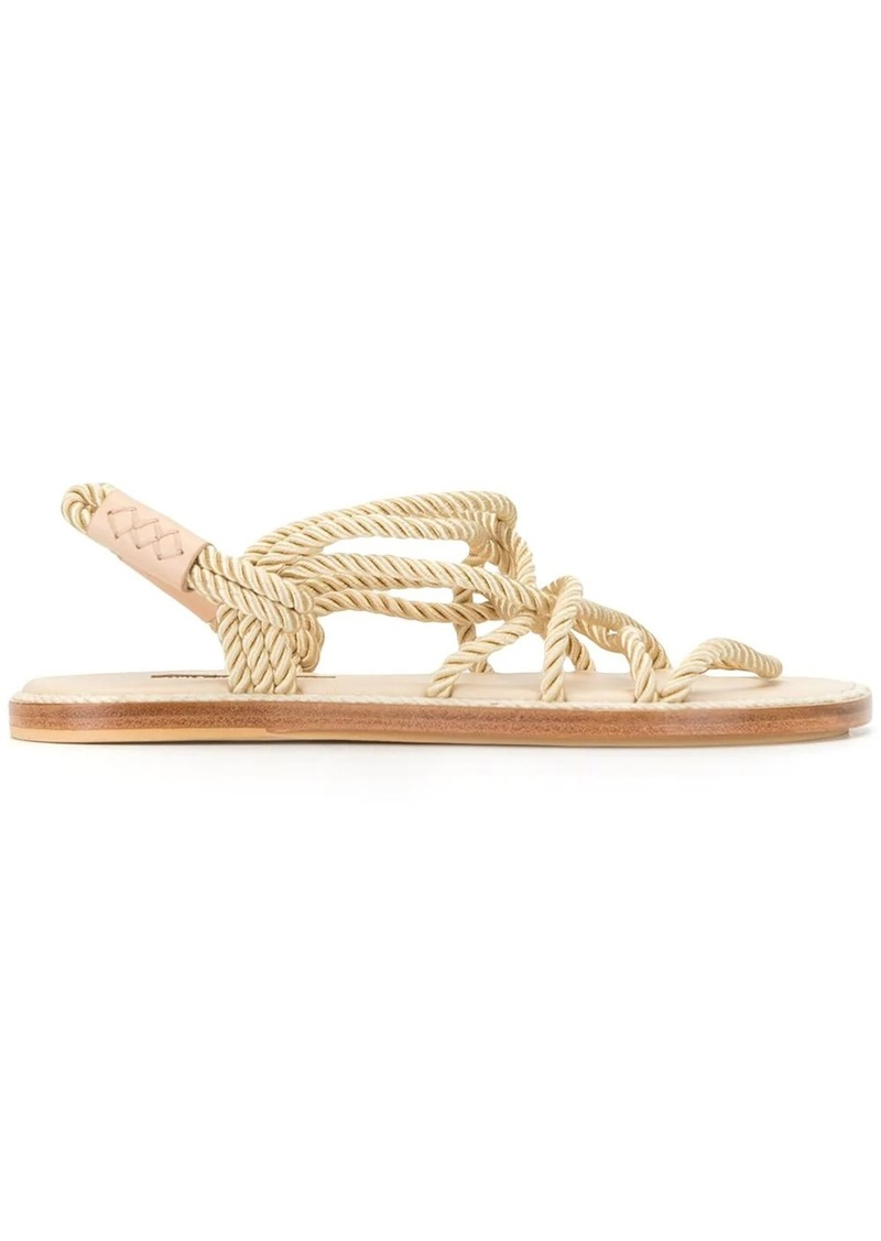 rope strappy sandals