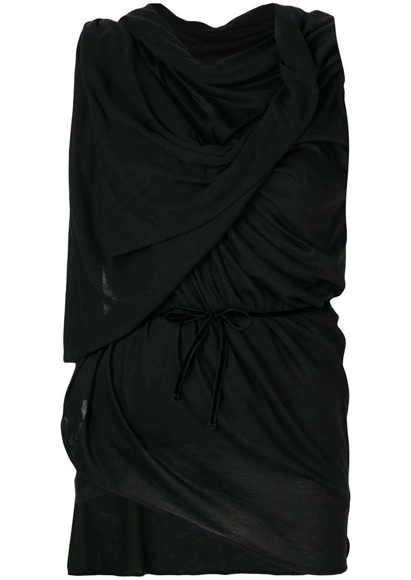 Ann Demeulemeester ruched sleeveless top