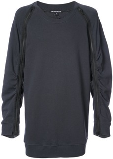 Ann Demeulemeester ruched zip sleeve sweatshirt