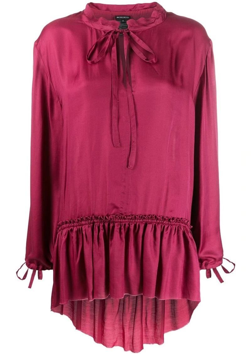Ann Demeulemeester ruffle trim blouse