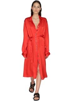 Ann Demeulemeester Satin Shirt Dress