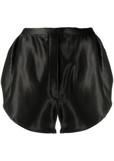 Ann Demeulemeester satin slip-on shorts