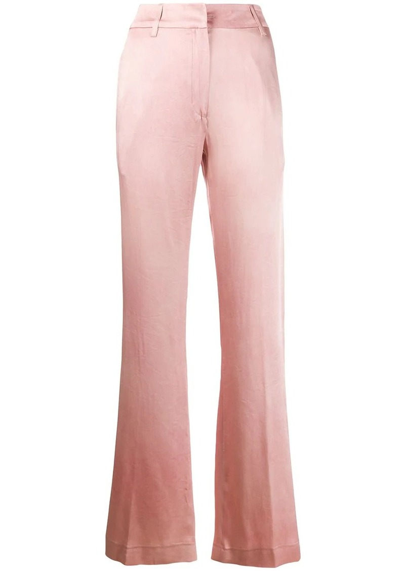 Ann Demeulemeester satin wide-leg trousers