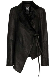 Ann Demeulemeester shearling trimmed leather jacket