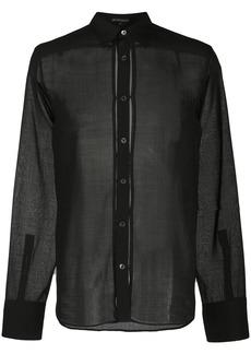 Ann Demeulemeester sheer classic shirt
