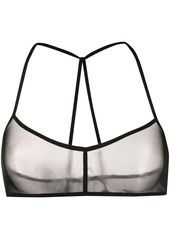 Ann Demeulemeester sheer cropped top