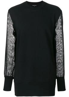 Ann Demeulemeester sheer sleeve sweatshirt