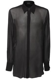 Ann Demeulemeester Sheer Viscose Long Shirt