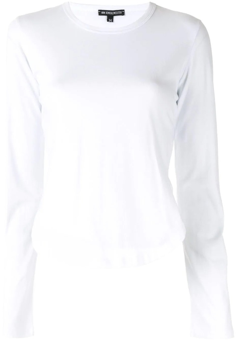Ann Demeulemeester side slit long sleeve top
