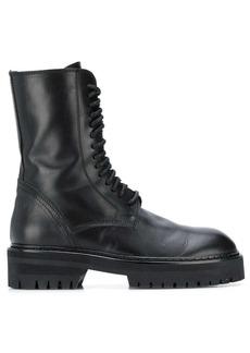 Ann Demeulemeester side zip combat boots