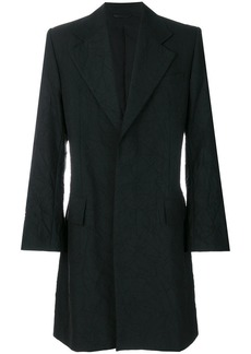 Ann Demeulemeester single-breasted crinkle coat