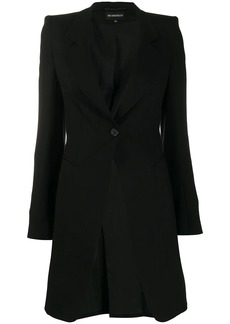 Ann Demeulemeester single-breasted fitted coat