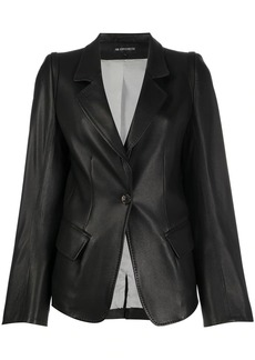 Ann Demeulemeester single-breasted leather blazer