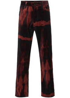 Ann Demeulemeester six pocket cotton velvet trousers