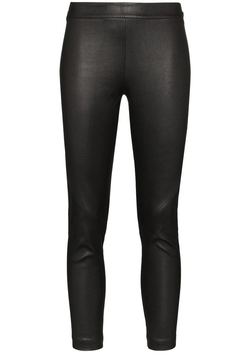 Ann Demeulemeester Slim Leg Leather Leggings