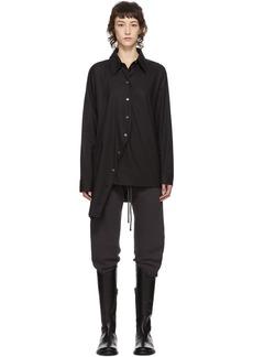 Ann Demeulemeester SSENSE Exclusive Black Asymmetric Shirt