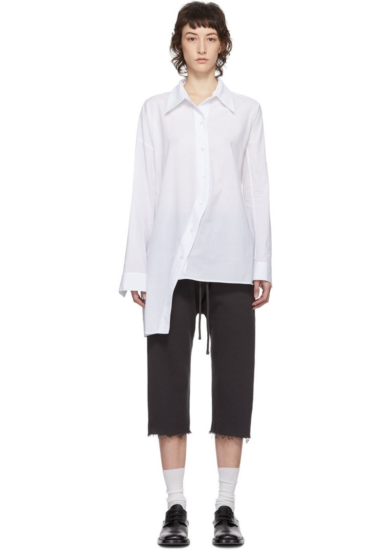 Ann Demeulemeester SSENSE Exclusive White Asymmetric Shirt
