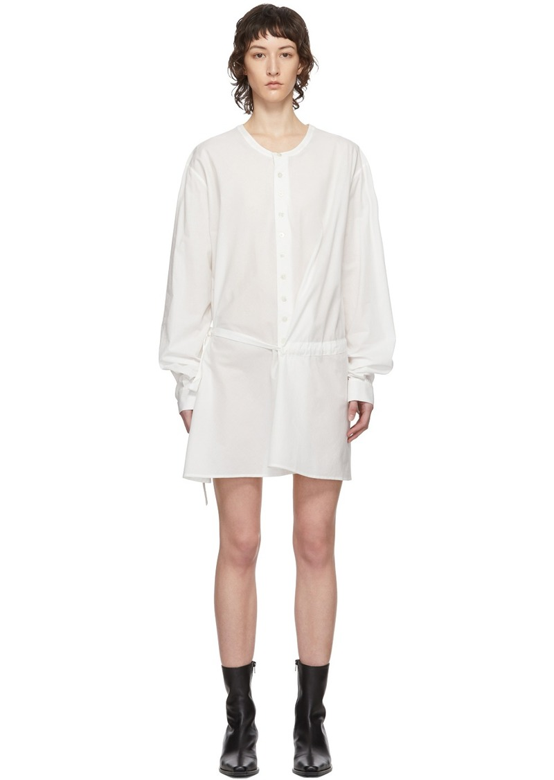 Ann Demeulemeester SSENSE Exclusive White Belted Shirt Dress