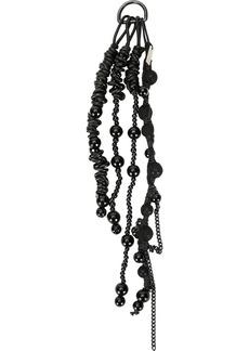 Ann Demeulemeester stone chain embellished keyring