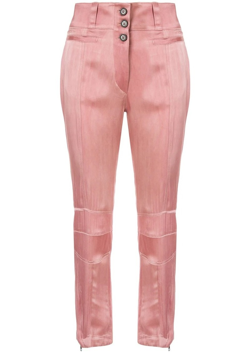 Ann Demeulemeester straight leg satin trousers