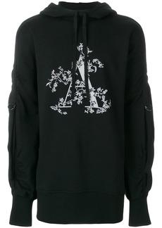 Ann Demeulemeester strap detail A print hoodie