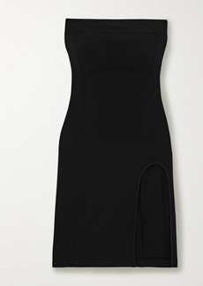 Ann Demeulemeester Strapless Button-detailed Stretch Wool-blend Dress